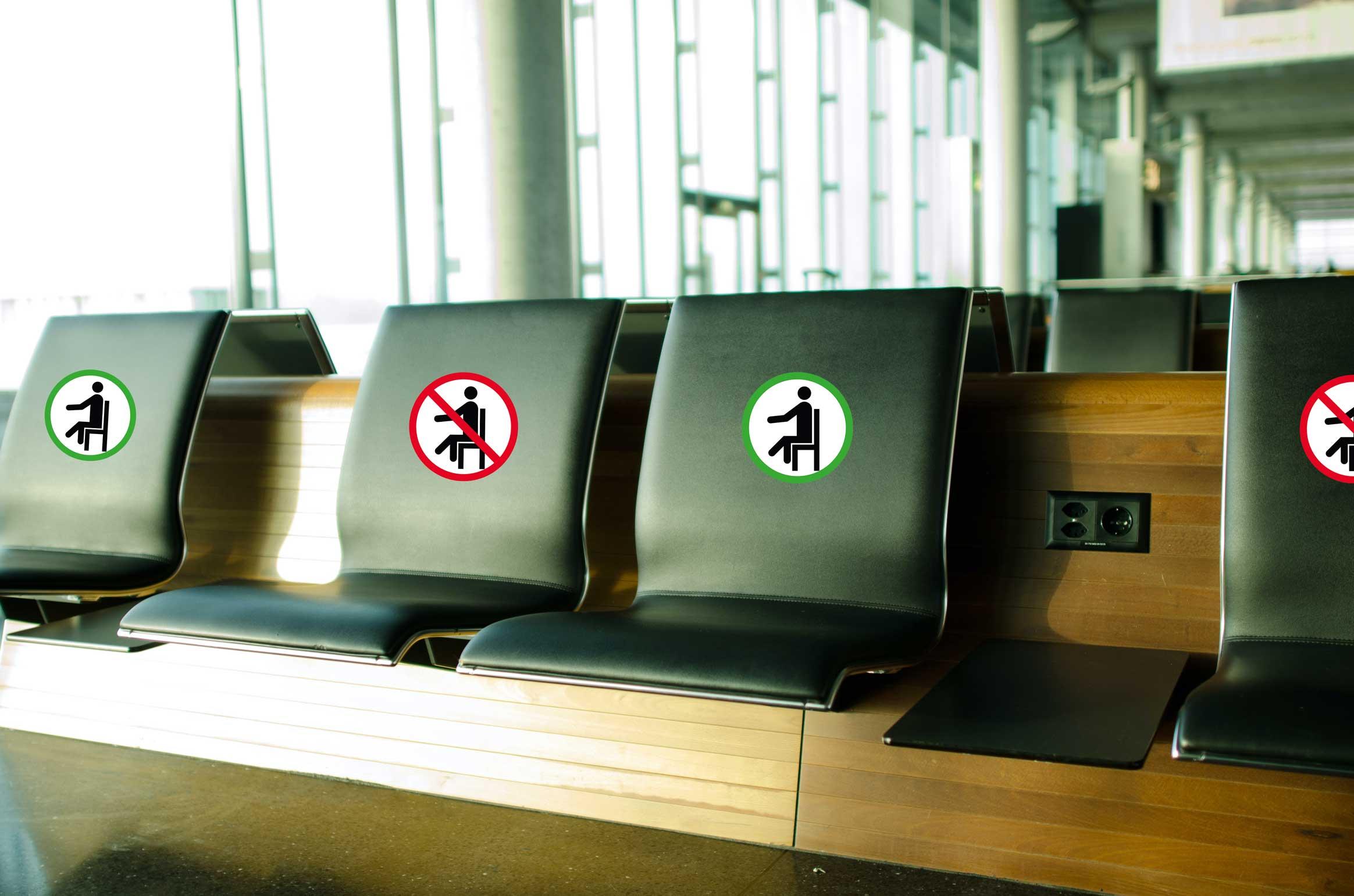 Sitzen erlaubt/nicht erlaubt