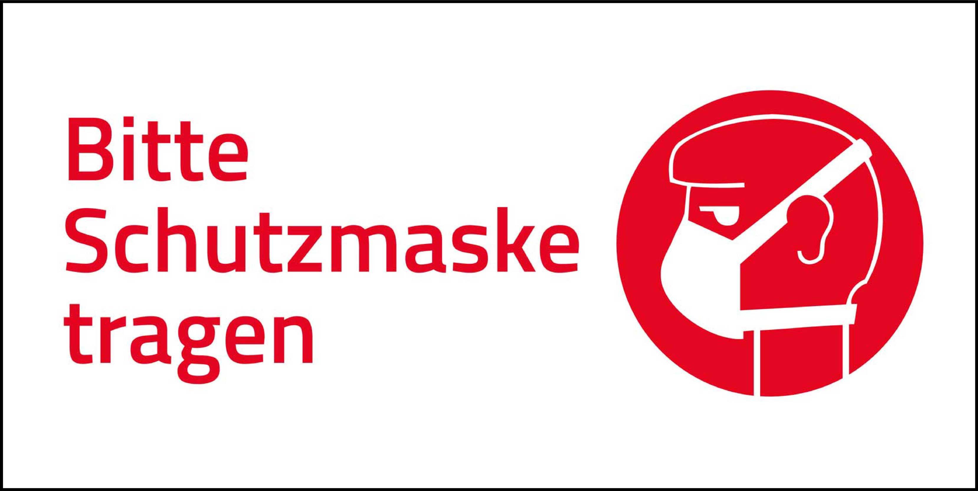 Aufkleber Schutzmaske tragen Hygiene